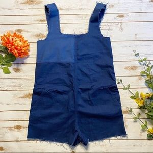 ZARA SHORT PATCHWORK OVERALLS SIZE SMALL